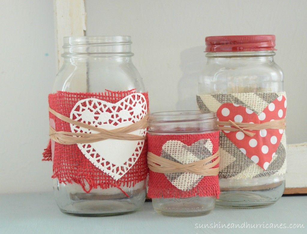 valentine 's day mason jars | jar, Ideas