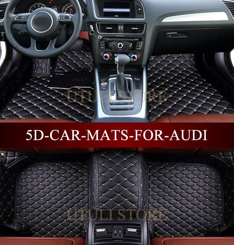 Leather Car Floor Mats For Audi A1 A3 A4 A6 A7 A8 Q3 Q5 Q7 Tt 3d