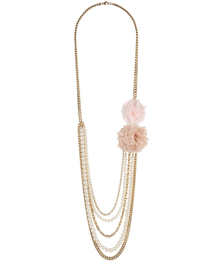 Rosette Swag Necklace
