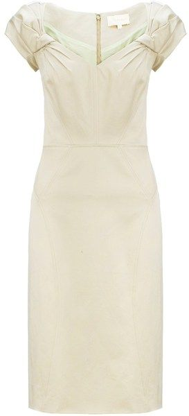 03ed6d4139 ZAC POSEN Cap Sleeve Pencil Dress - Lyst   vanity fair.   Dresses ...