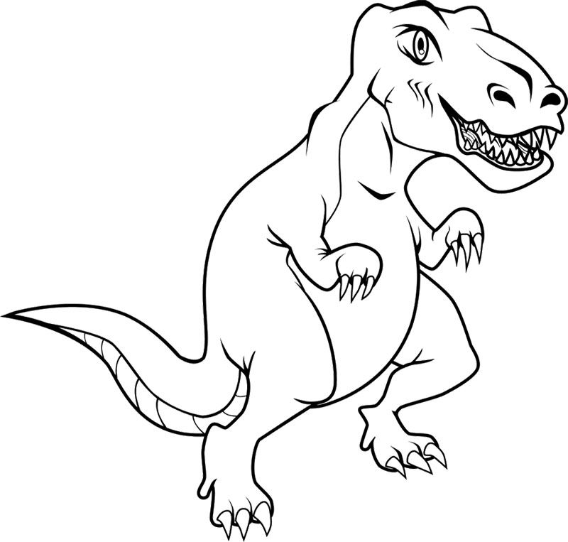 And T Rex Coloring Page Is Part Of Dinosaurs Pages