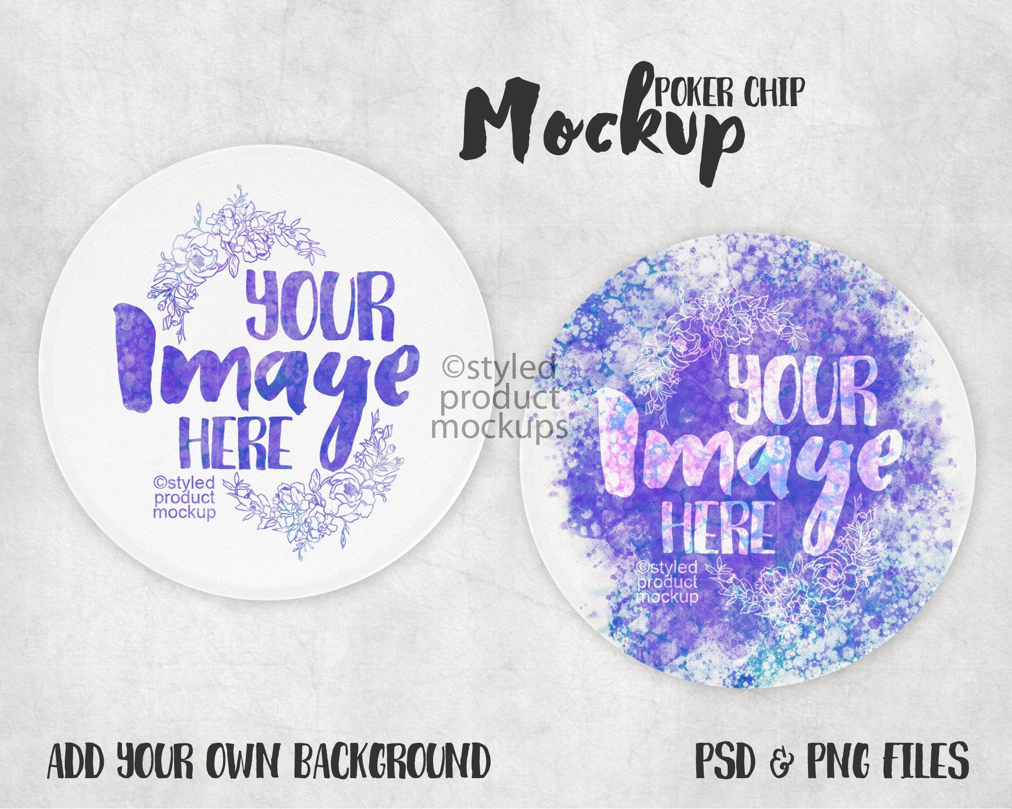 Dye Sublimation Poker Chip Mockup Add Your Own Image And Etsy Dye Sublimation Sublime Car Coasters