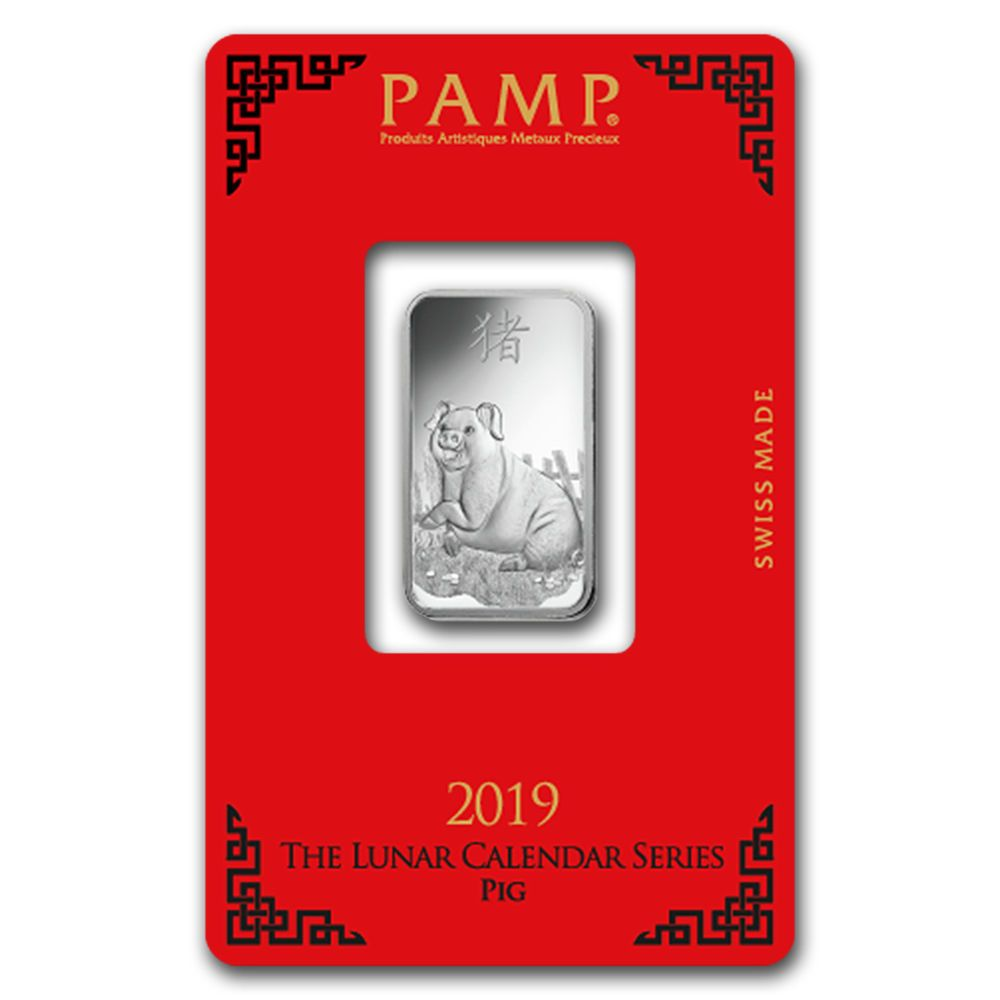 Details About 10 Gram Silver Bar Pamp Suisse Year Of The Pig Sku 173452 Silver Bars Year Of The Pig Silver Investing