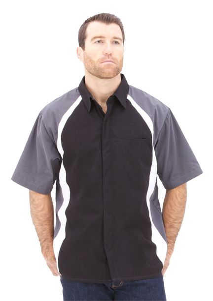 CSS Racewear Racing Pit Crew Shirt Style 9015 GRY/BLK