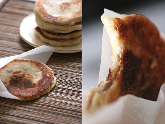 Hoddeok (Korean sugar pancakes stuffed with brown sugar ... Hoddeok Korean Sugar Pancakes