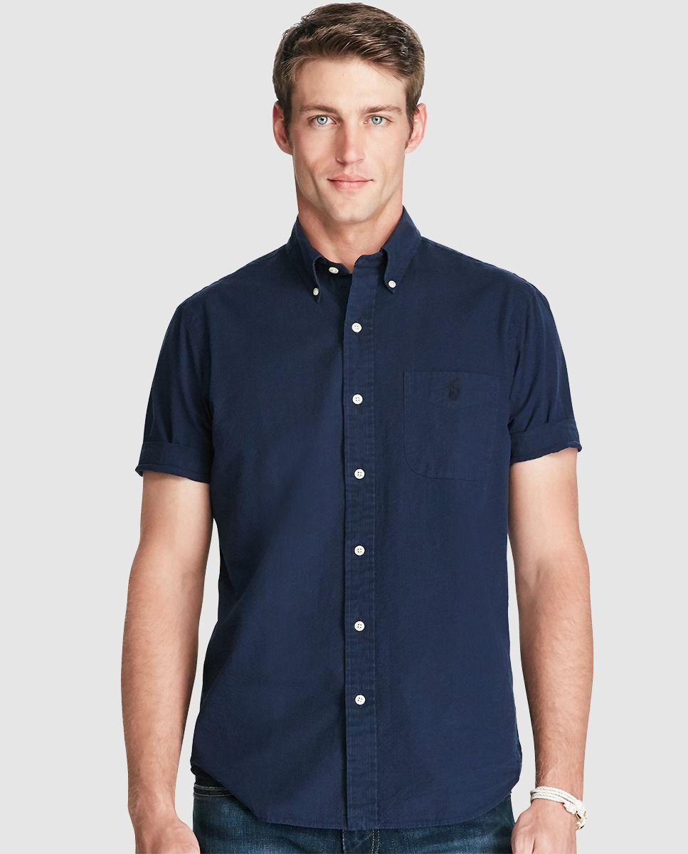 67382ade Camisa de hombre Polo Ralph Lauren regular lisa azul · Polo Ralph Lauren ·  Moda · El Corte Inglés
