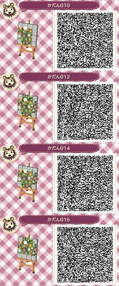 Qr Path Specked Flowers With Cobblestone Border Animal Crossing