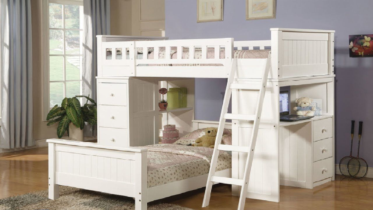Loft bed with desk ideas Bunk Bed Ideas For Boys And Girls  Best Bunk Beds Designs Part