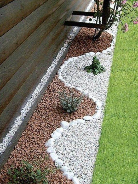 Garten Ideen Ying Yang Kies Gartengestaltung Gr Nes Gras Runde Steine Gartendesign Backyard Landscaping Designs Landscaping With Rocks Garden Patio Furniture
