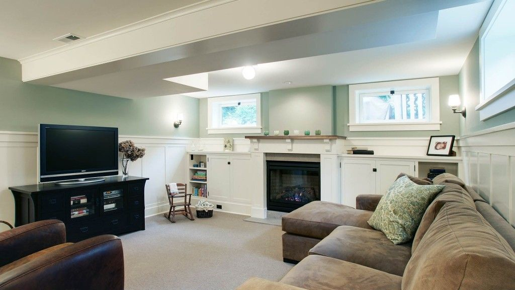 Simply stunning basement remodel with early 20th