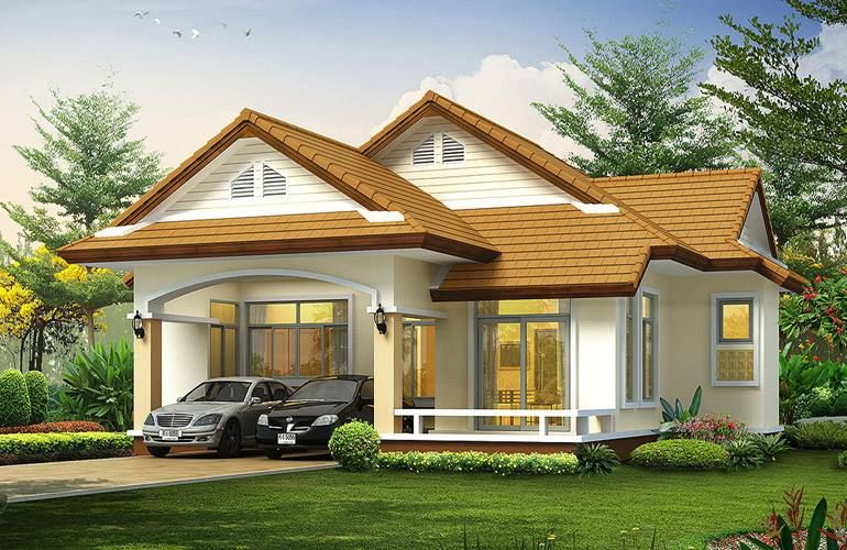 25 tiny beautiful house very small house nice homes for Simple bungalow house design with terrace