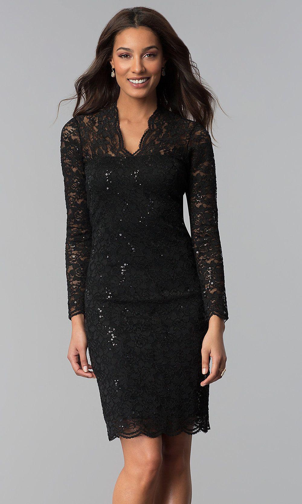 Lace Knee Length Sequin Wedding Guest Dress Promgirl Lace Wedding Guest Dress Little Black Dress Outfit Wedding Guest Dress [ 1666 x 1000 Pixel ]