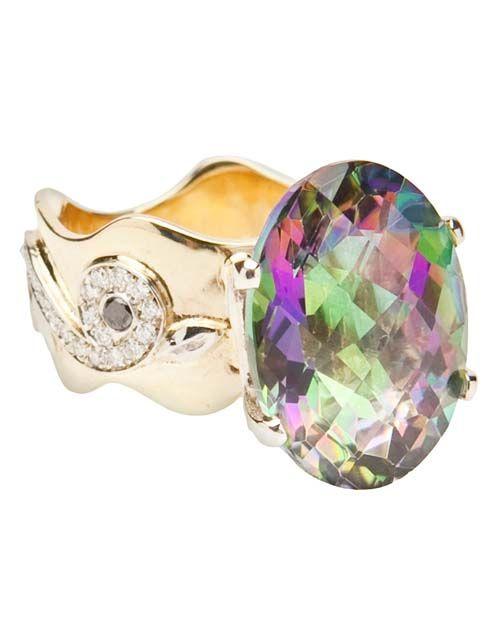 Merav Gold Designs Topaz ring