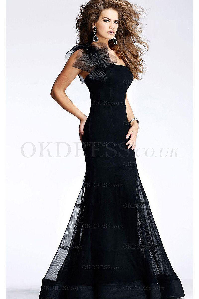Floorlength sheathcolumn organza long formal dresses by okdress
