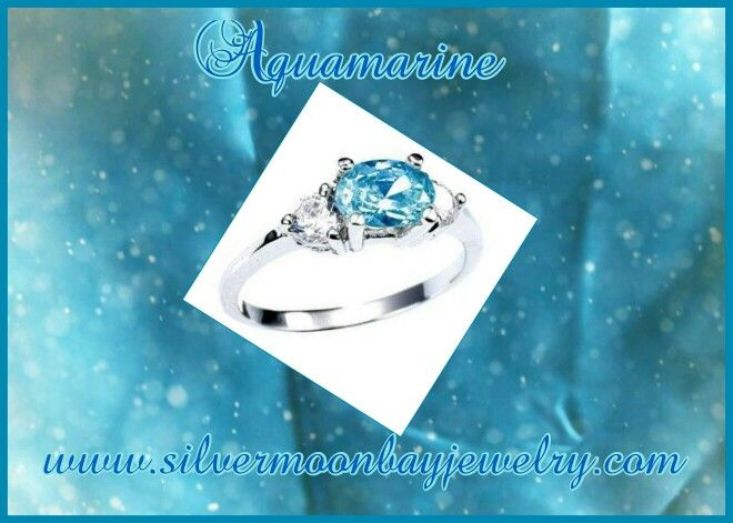 Aquamarine the birthstone for March symbolizes courage, faithfulness, awareness, and easy flow of ideas. Www.silvermoonbayjewelry.com