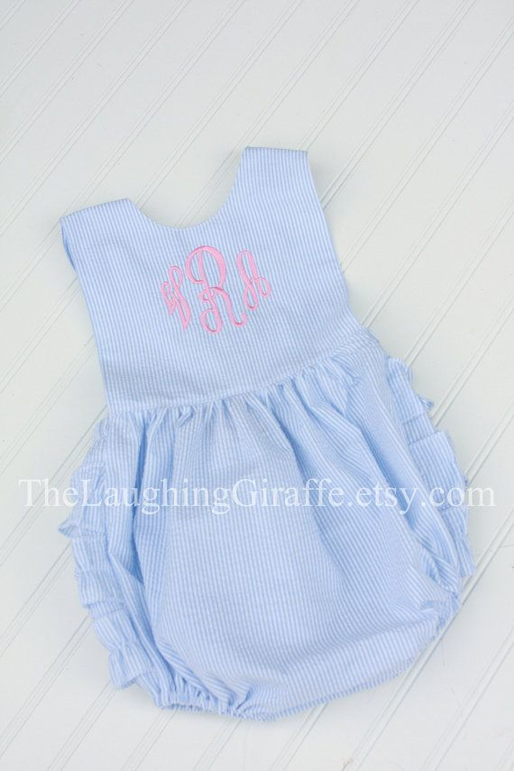 6664ccaf336 NEW...Lollipop...Seersucker Bubble Romper by TheLaughingGiraffe ...