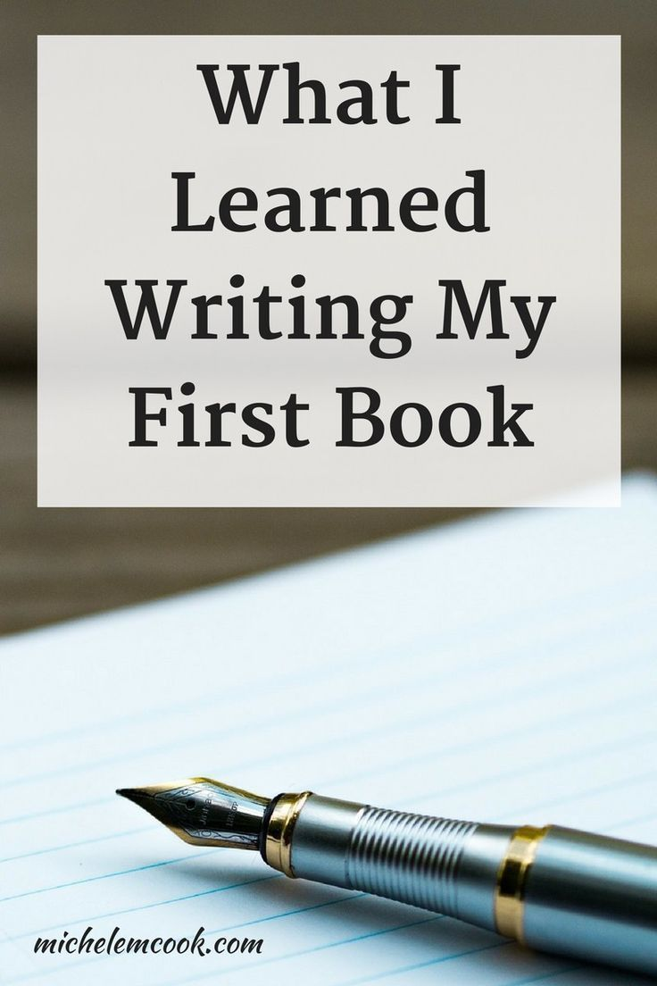 Writing my first book was an exciting experience.  Here are a few things I learned writing my first book.