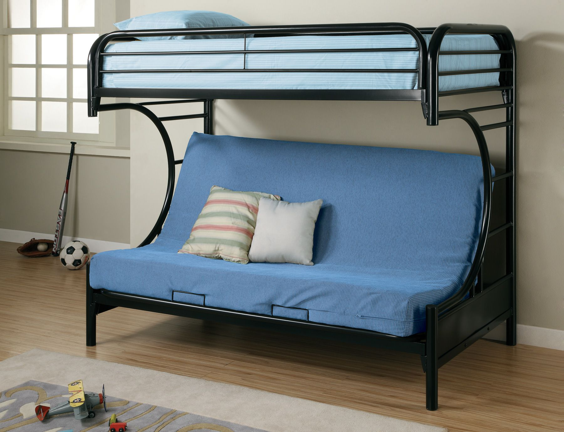 this metal twin over full futon bunk bed with ladder built in is a twin full bunk bed at night and a futon couch by day  there is a built in ladder as well      bed entrancing style twin over full frame twin bed dimensions      rh   pinterest