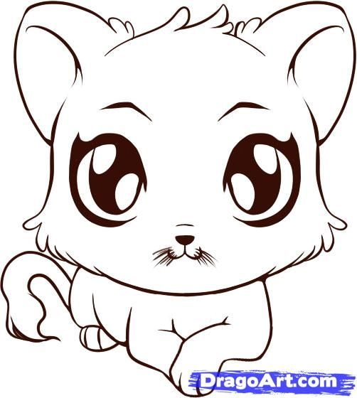 How To Draw Cute Animals By Dawn Animal Drawings Cartoon Baby Animals Baby Animal Drawings