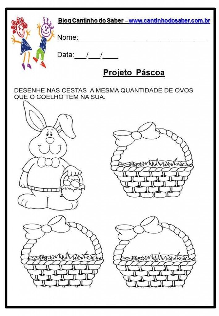 Atividade Da Pascoa 10 Com Imagens Pascoa Educacao Infantil