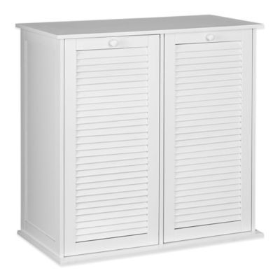 Household Essentials Tilt Out Laundry Sorter Cabinet With Shutter Front Bedbathandbeyond Com Laundry Sorter Laundry Hamper Household Essentials