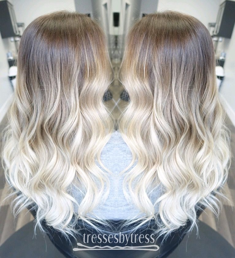 Platinum blonde ombr balayage ombre balayage - Ombre hair blond selber machen ...