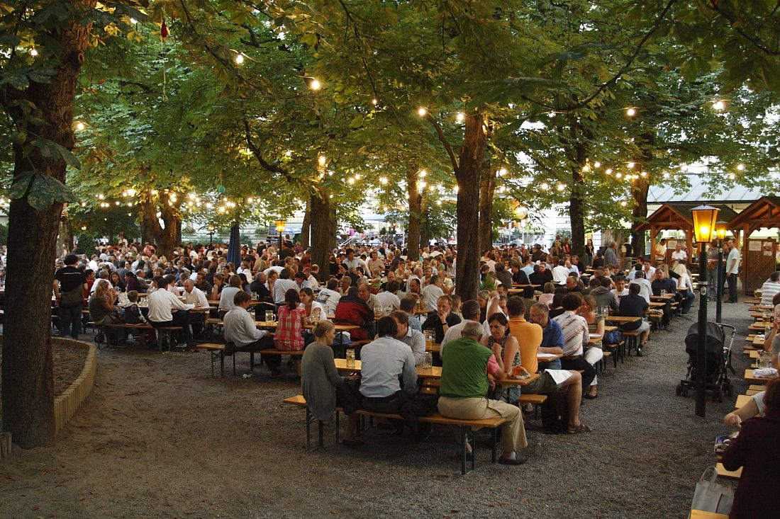 Family Vacation with Teens: Its All About the Dinners  German Beer Garden  Beer garden nyc