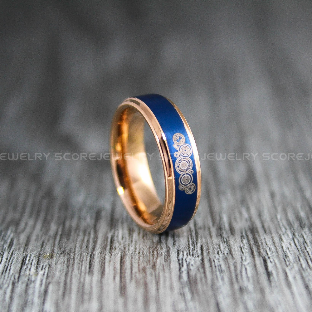 Doctor Who Ring Gallifreyan Ring Doctor Who Jewelry Doctor Who Wedding Band Doctor Who Wedding Ring 6mm Rose Gold Tungsten Ring In 2020 Doctor Who Wedding Doctor Who Ring Doctor Who Jewelry