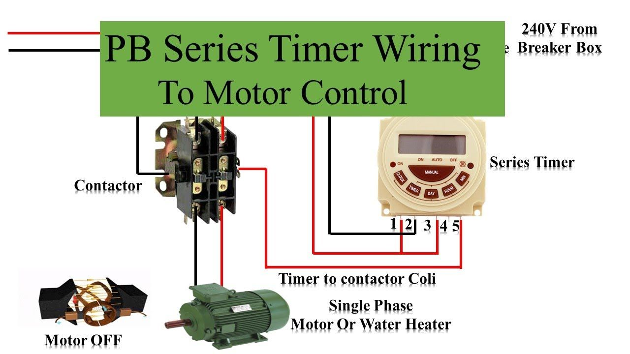 Pb Series Timer Wiring To Motor Control Timer Motor By Tech Bondhon Timer Wire Inductors