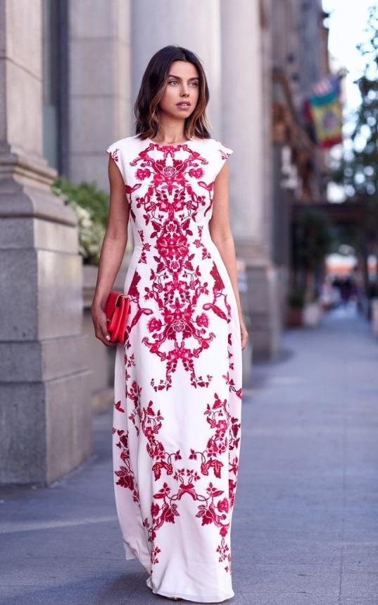 Boho Maxi Beach red floral dress | DRESSes | Pinterest | Vestiditos ...