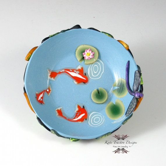 Koi Pond Ring Bowl by Kate Tracton Designs on Etsy