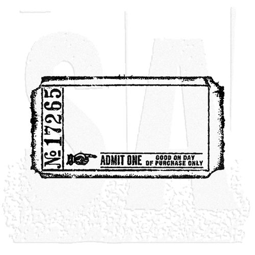 Tim Holtz Rubber Stamp BLANK TICKET G2-1605 Stampers Anonymous g2 - blank ticket