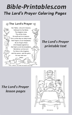 Intrepid image within the lord's prayer coloring pages printable