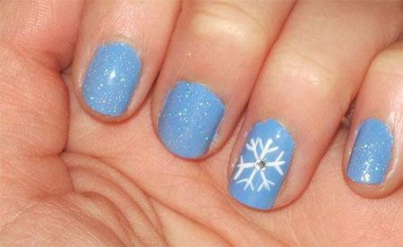 Very Easy Winter Nail Art Designs 2013 2014 For Beginners Learners 10 Very Easy  Winter Nail Art Designs 2014 For Beginners Learners - I Like The Snowflake! Hair, Nails & Makeup Pinterest Winter