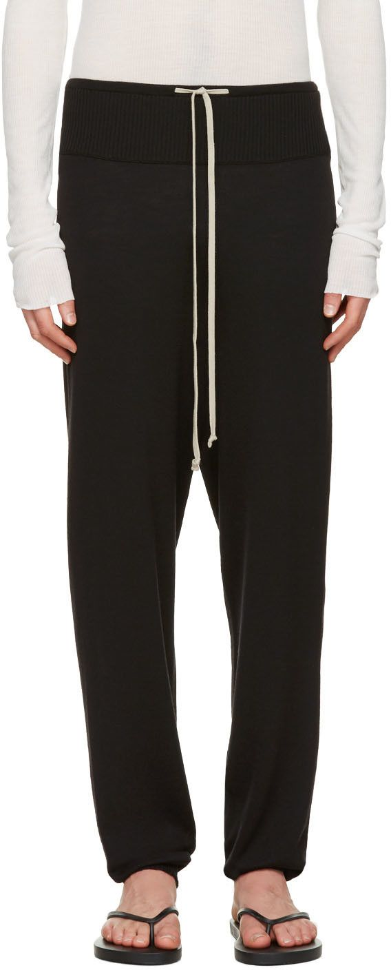 RICK OWENS Black Long Drawstring Lounge Pants. #rickowens #cloth ...