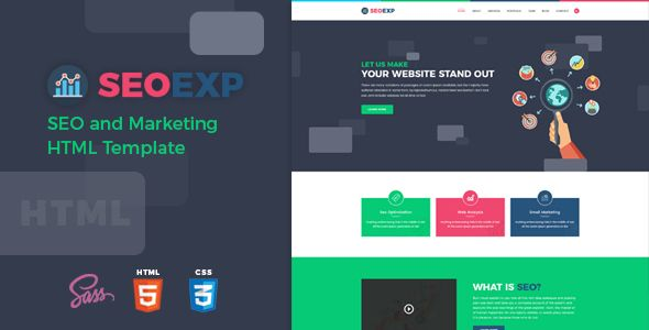 Nice Seoexp Search Engine Marketing And Advertising Html Template