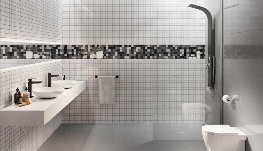 Badezimmerspiegel Auf Fliesen Kleben