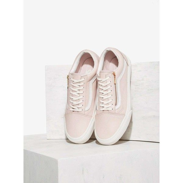 Vans Old Skool Zip Leather Sneaker ($75) ❤ liked on
