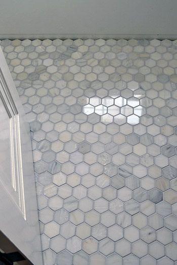 Floor Marble Hex Tile Color Inspiration Home ideas Pinterest