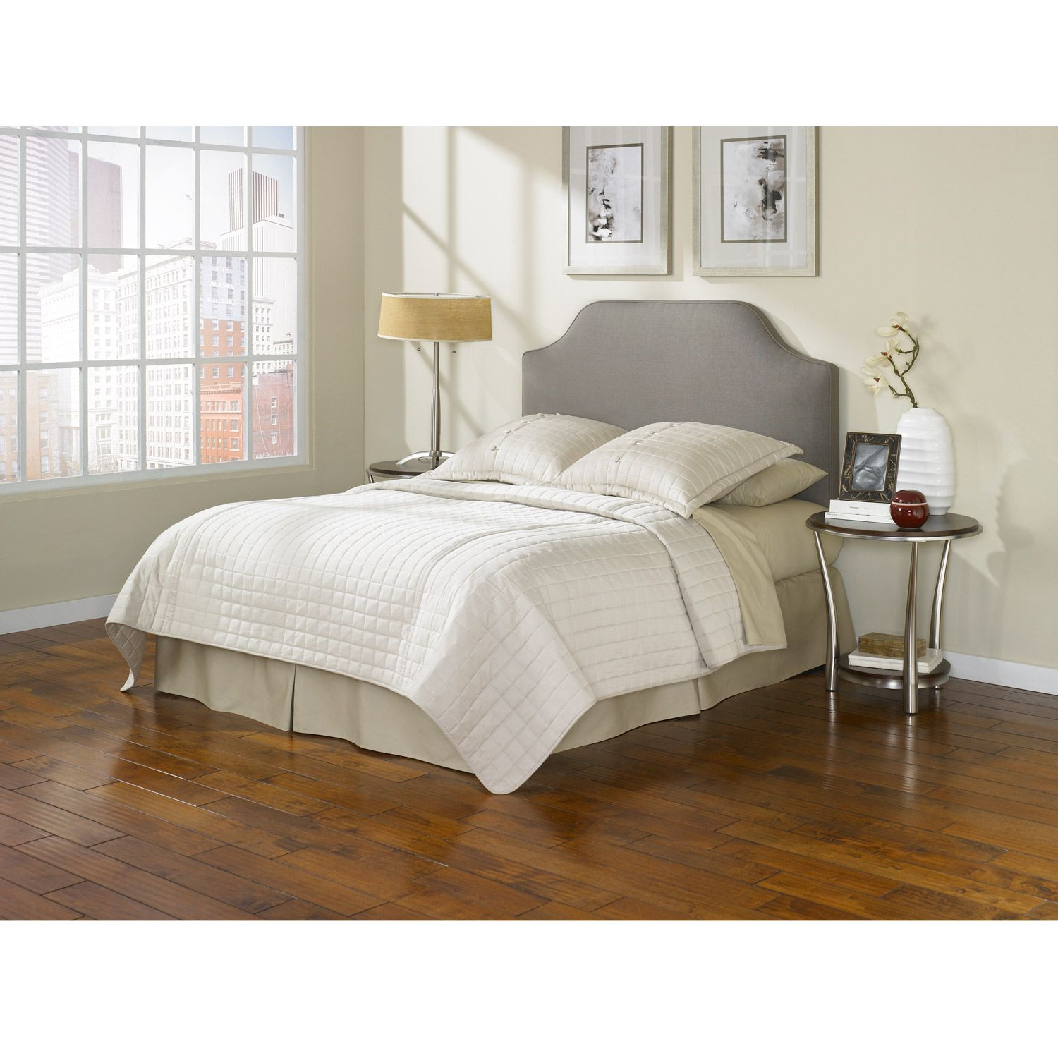 Bordeaux Taupe Full Size Bed Headboard With Nightstand Set