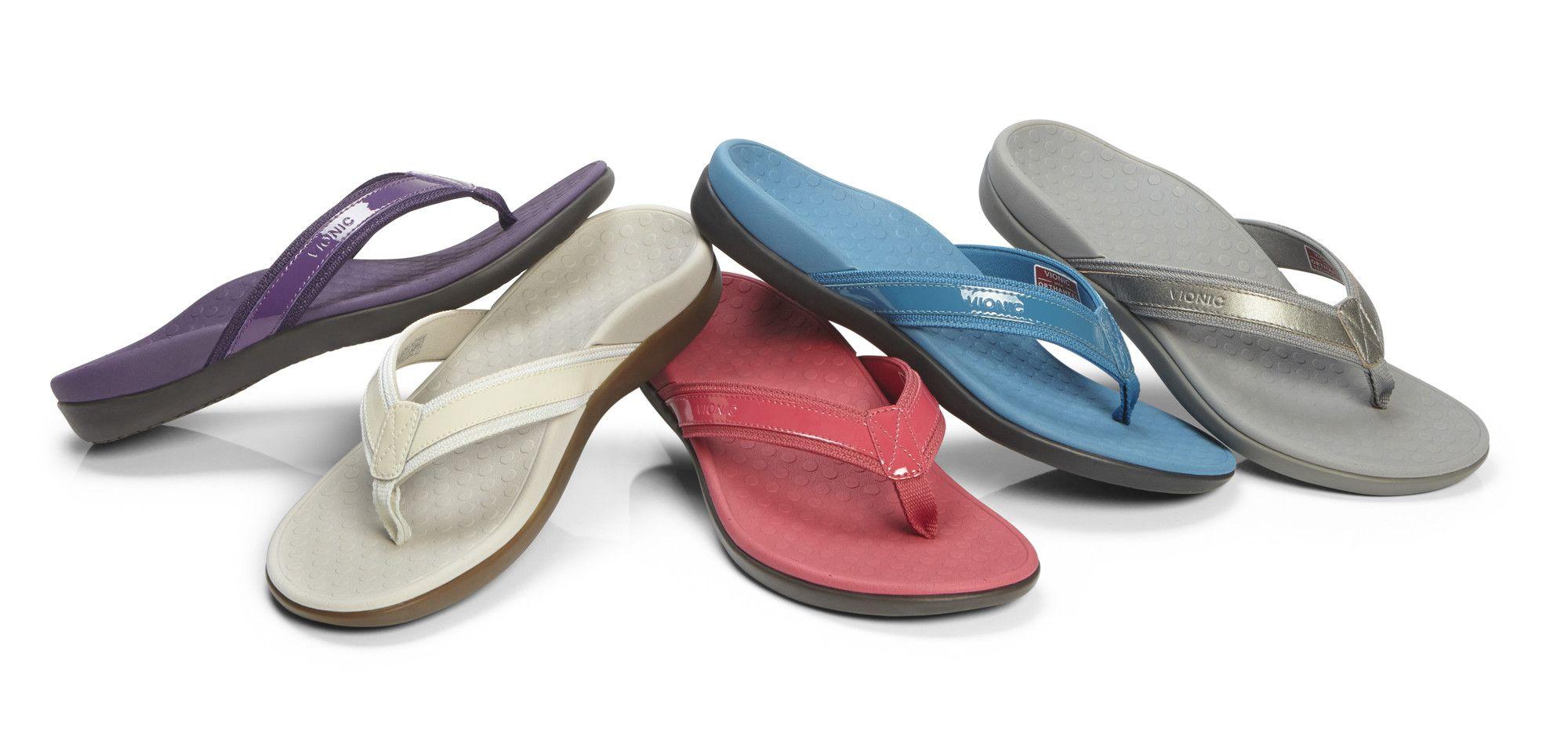 Vionic Tide II Women's Leather Orthotic Sandals Orthaheel