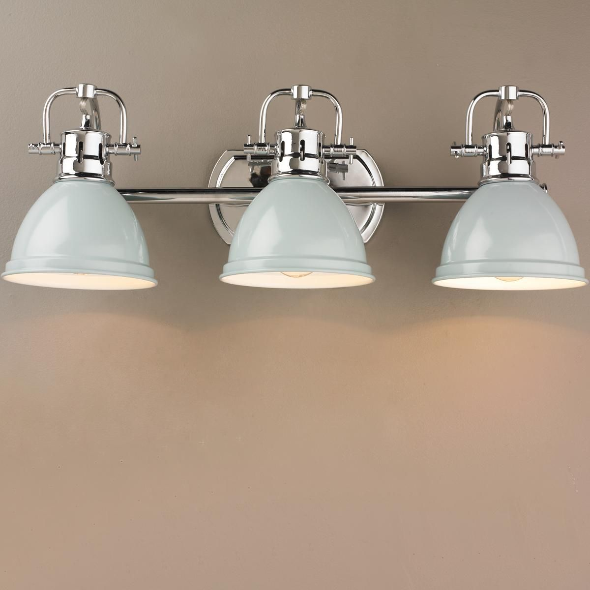Classic Dome Shade Bath Light 3 Light Bathroom Light Fixtures Chrome Bathroom Light Fixtures Vanity Lighting