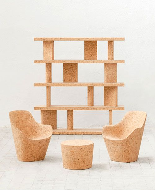Larevuedudesign Design Designer Jasper Morrison Mobilier Liege Cork Edition Limitee Kasmin Gallery 01 Mobilier Mobilier Minimaliste Bouchons De Liege