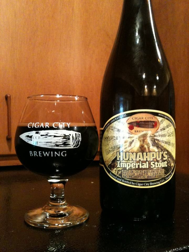 Hunahpu S Imperial Stout Double Barrel Aged Cigar City Brewing City Brew Cigar City Brewery Stout