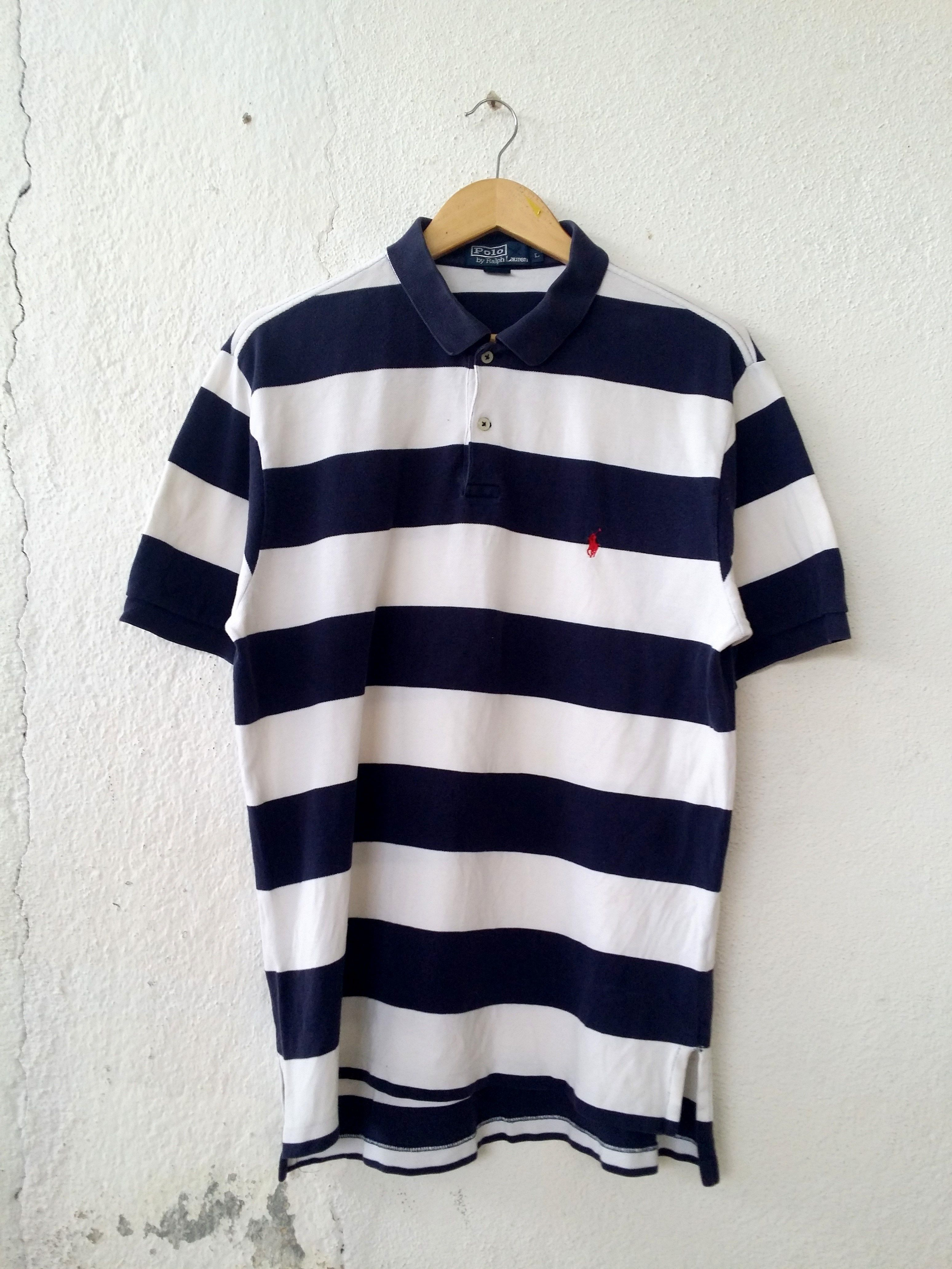 dfe5f2be1 Ralph Lauren Polo Shirt Stripe Small Pony Embroidered Size L ...