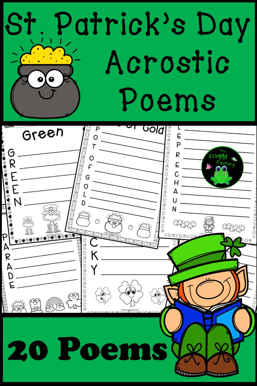 St Patricks Day Acrostic Poems St Patricks Day Writing Activity