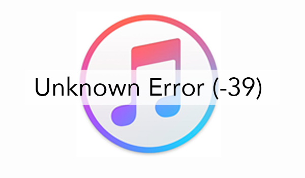 An unknown error occurred (-39) when sync and restore your