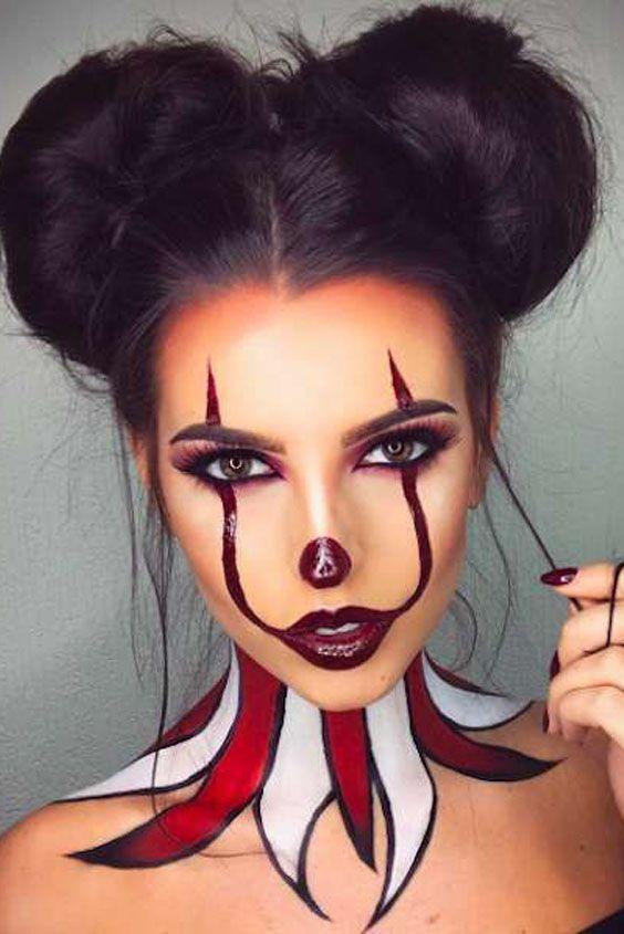 Maquillaje Halloween 2020 Mujer Halloween Make Up Inspirations en 2020 | Maquillaje halloween