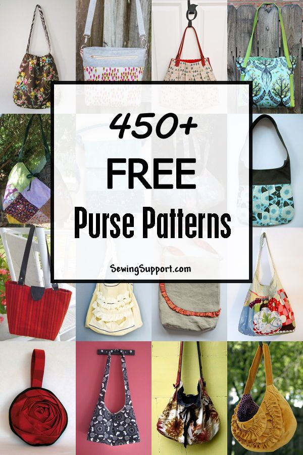450+ Free Purse Patterns | patrones bolsas | Pinterest | Costura ...