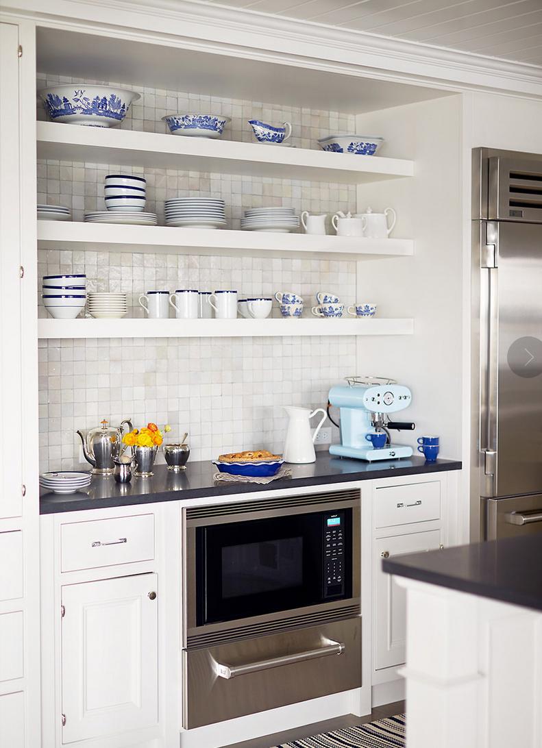 Best Open Shelving Andrew Howard Interiors White Cottage 400 x 300